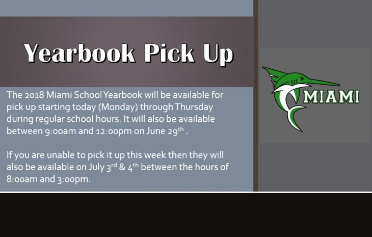 Yearbooks available for pick up starting today!