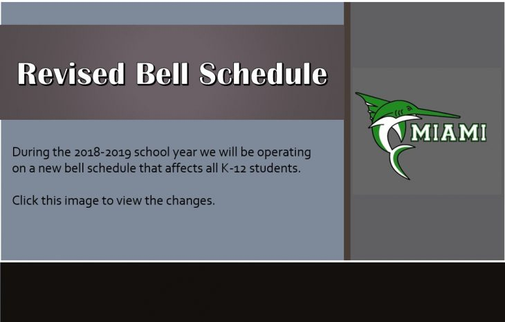 September 12th Update: Revised Bell Schedule