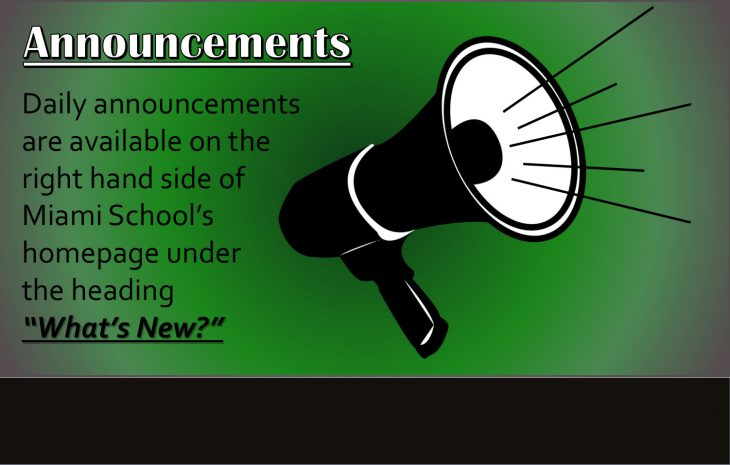 """Daily Announcements Now in """"What's New?"""" Page"""