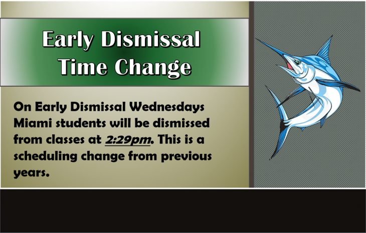 Early Dismissal Time Change