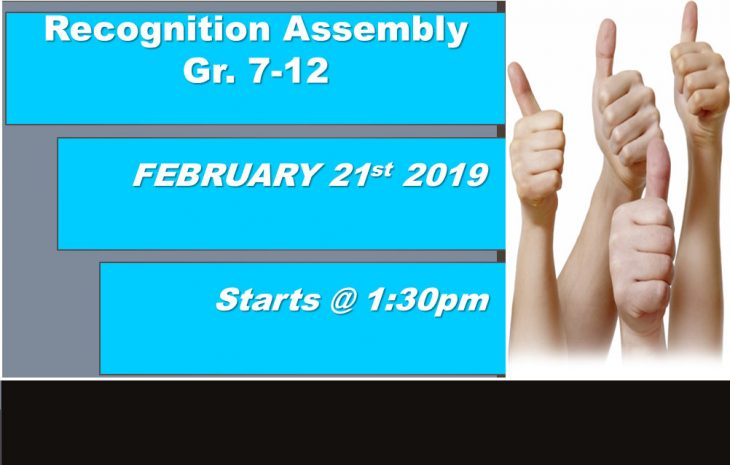 Recognition Assembly Info