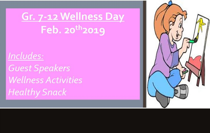 Gr 7-12 Wellness Day