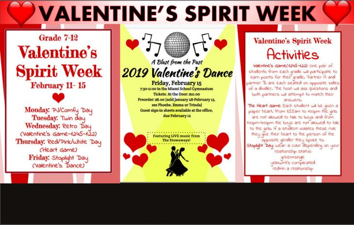 Valentine's Spirit Week Info (Click to Enlarge)