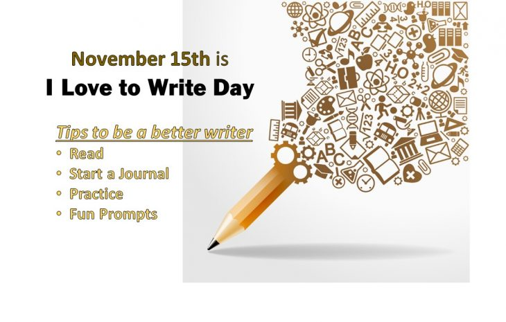 November 15th I love to Write Day